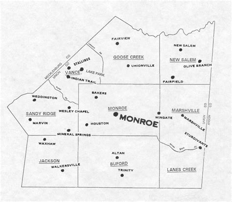 Union County Records Nc Union County Nc Township Map