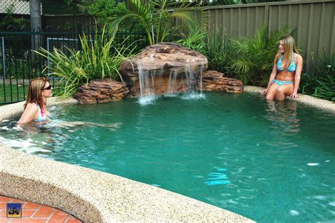 pool fountains and waterfalls pool waterfall easy way to add beauty above ground pool