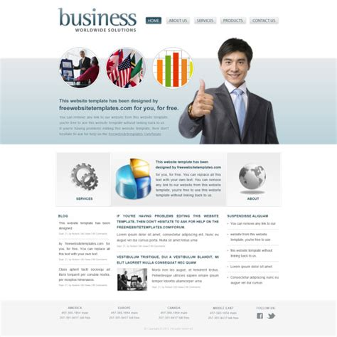 Modern Business Website Template Psd Free Download Modern Business Website Templates