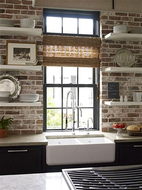 exposed brick kitchen modern style meets old world charm exposed brick