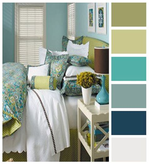 light blue bedroom color scheme light and sunny yellow beige blue and green palate
