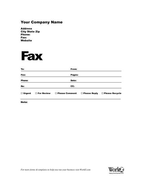 fax forms template fax cover sheet sle template images pictures becuo