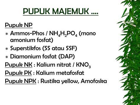 Pupuk Kalium Majemuk ppt ktnt iii 2009 2010 powerpoint presentation id 3304520
