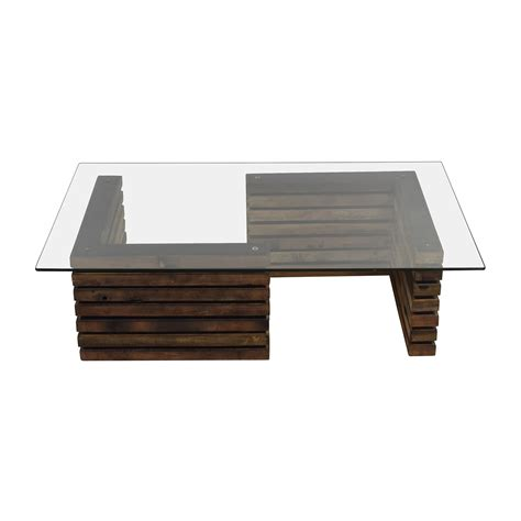 rustic glass coffee table rustic industrial wood and glass coffee table tables