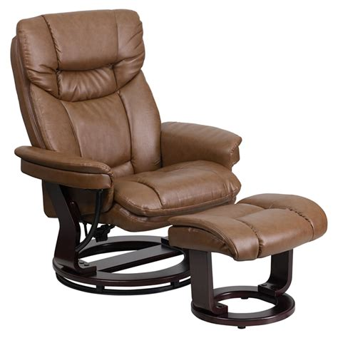 leather recliner and ottoman leather recliner and ottoman swiveling base palimino