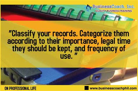 Office Of Records Take Of Your Office Records 187 Business Seminars By Businesscoach Inc