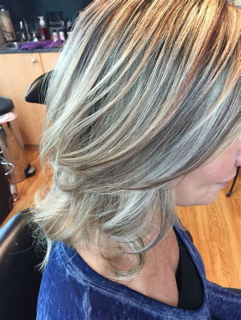 natural grey with high and lowlights hairbykialee 17 best images about hair by melissa lobaito on pinterest