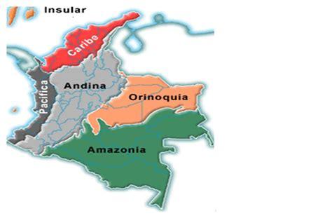 imagenes regiones naturales de colombia regiones de colombia mapa las regiones de colombia
