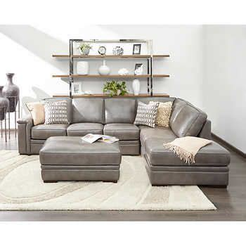 top grain leather sectional with ottoman best 25 grey leather sofa ideas on