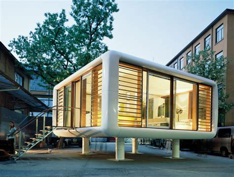 pop up tiny house tiny space age loftcube prefab can pop up just about