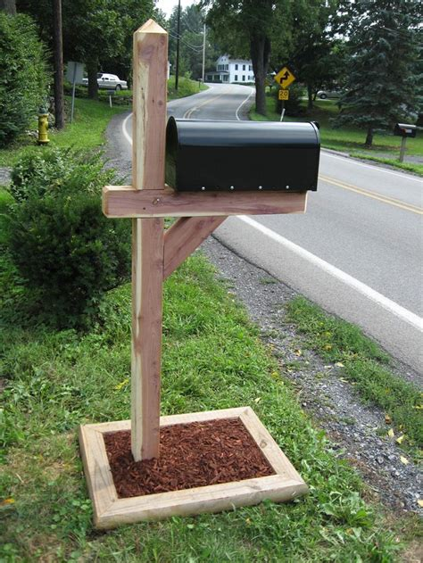 cedar post mailbox decor mailbox landscaping mailbox
