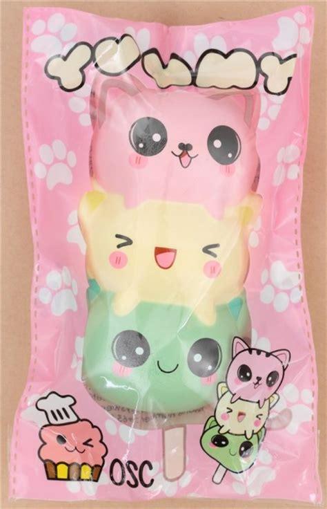 Squishy Dango green light yellow pink cat dango squishy kawaii
