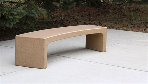 curved cement bench custom curved bench doty concrete