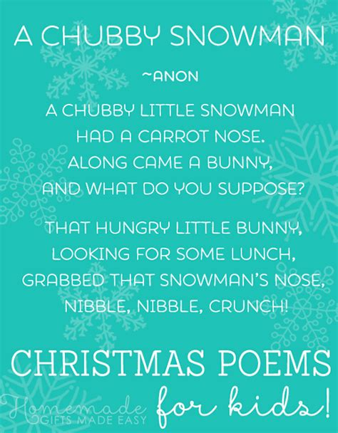 best christmas poems for kids poems for