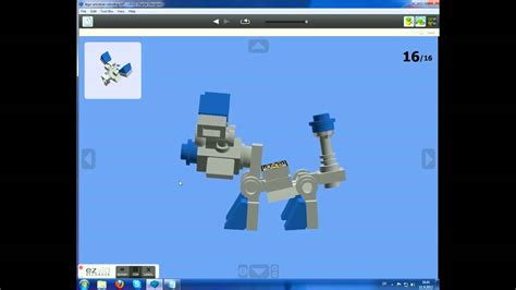 lego universe tutorial how to make a lego universe robodog youtube