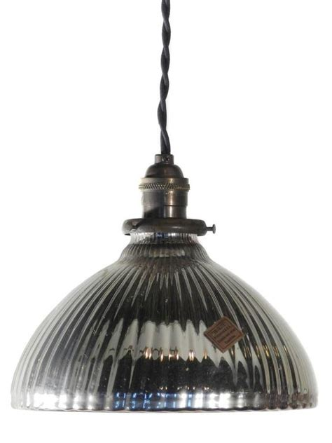 Matching Pendant Lights And Chandelier Matching Pair Of Large Mercury Glass Pendants At 1stdibs