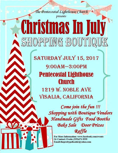 raffle ideas for chirstmas party quot in july quot fundraiser boutique spirit 88 9 100 1