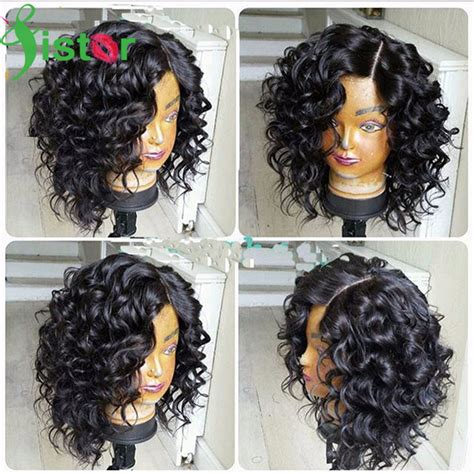 one inch curly hairstyles short human hair wigs curly lace front wig brazilian human
