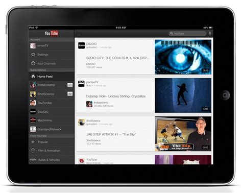 youtube layout ipad youtube app goes ipad adds airplay iphone 5 support