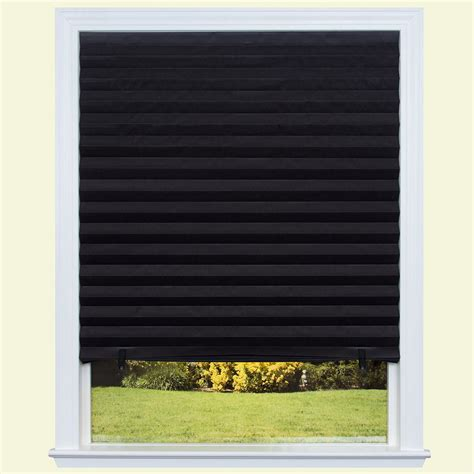 Black L Shades For Sale by Redi Shade Black Out Paper Window Shade 36 In W X 72 In