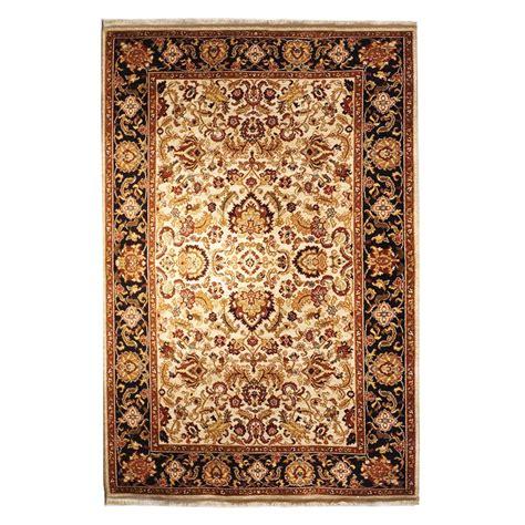 modern black rug karastan modern black ivory gold green wool rug 6702
