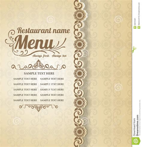 design menu vintage fancy menu background www imgkid com the image kid has it