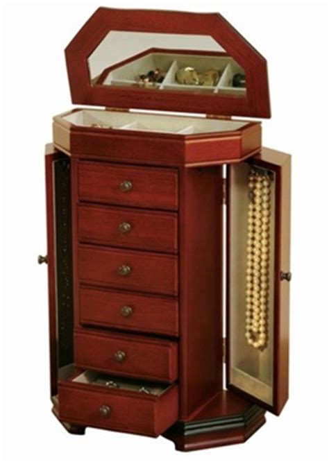 Large Jewelry Chest Armoire by Large Upright Walnut Jewelry Box Jewelry Armoire Chest