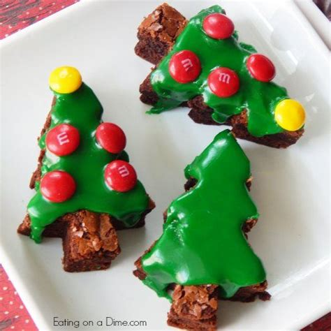 how to make christmas tree brownies eating on a dime