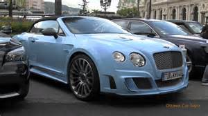 Bentley Convertible Baby Blue Baby Blue Bentley By Mansory Walkaround Startup Drive