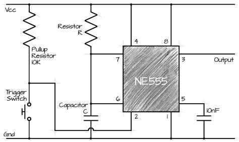 555 timer resistor calculator monostable 555 ne555 monostable circuit calculator