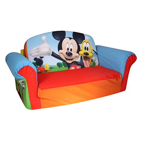 mice living in couch mickey mouse disney club house sofa 2 in 1 flip open kids