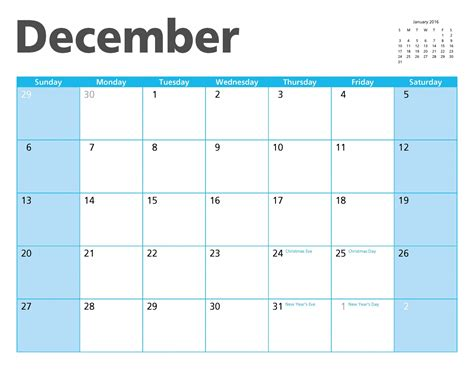 Calendar 2015 July To December December 2015 Calendar Page Free Stock Photo