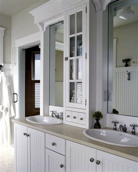 cabinet between bathroom sinks attic bath decisions pinterest