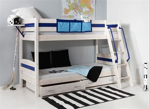 boy loft bed lively colorful boys room space saving bunk bed designs