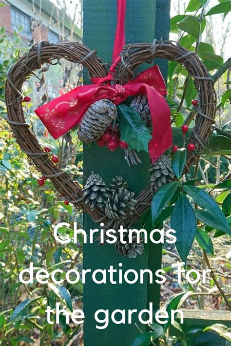 christmas garden decorations how to be festive and