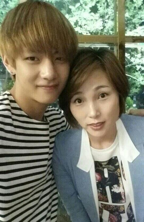 kim taehyung mother kim taehyung and his mother they are soo cute bts bts