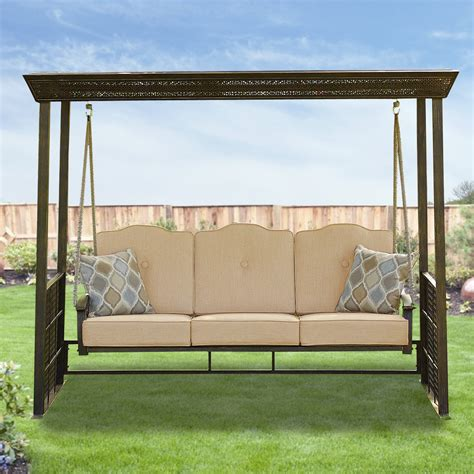 gazebo swing set replacement cushion set for crowley gazebo swing garden winds