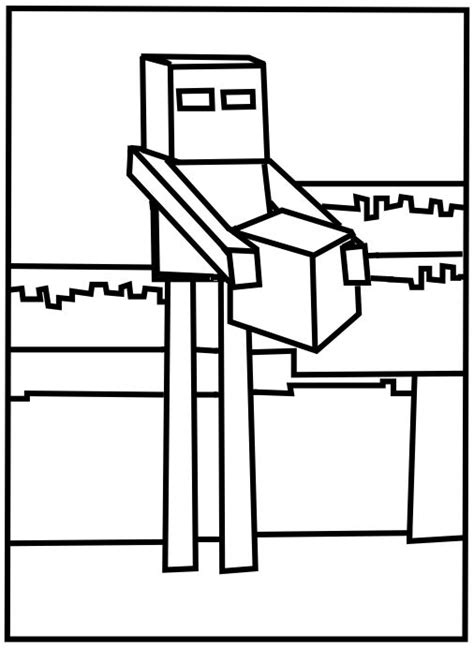 printable minecraft enderman coloring pages misc