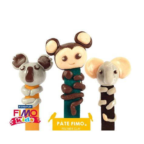 Fimo Meme - set per modellare fimo marque pages rois de la jungle 224