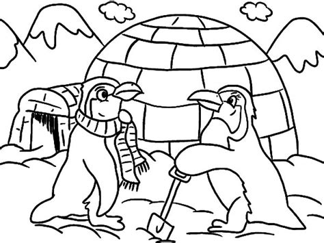 penguin igloo coloring page 1 references for coloring pages part 5