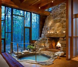 i never knew i needed an indoor tub and fireplace