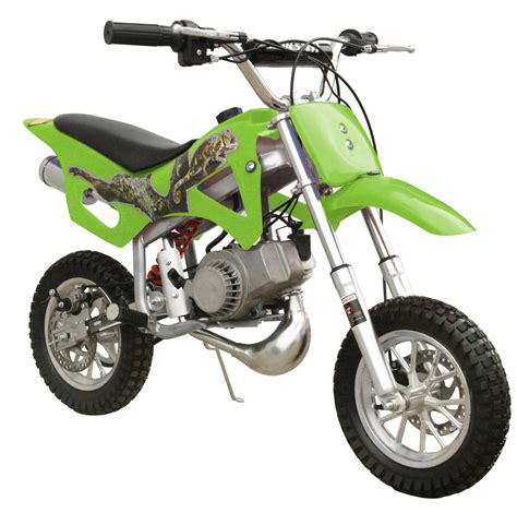 mini motocross bike 49cc 50cc green 2 stroke gas motorized mini dirt pit bike