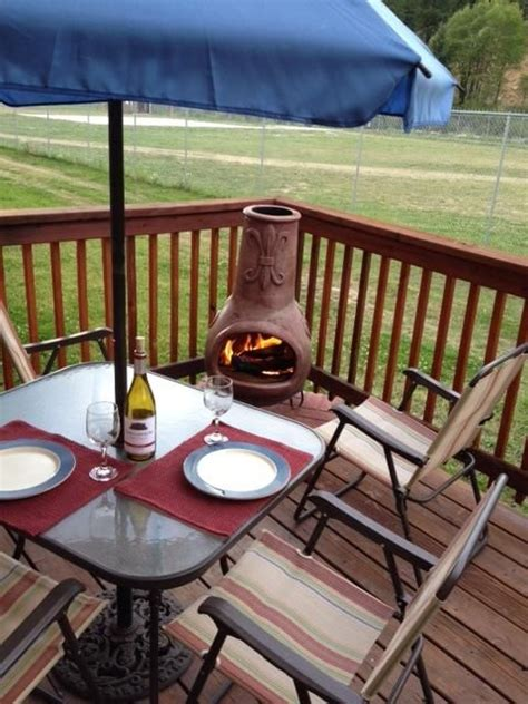 chiminea on deck beautiful condo deck with chiminea and grill vrbo