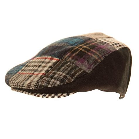 Mens Patchwork - h27 s patchwork flat cap