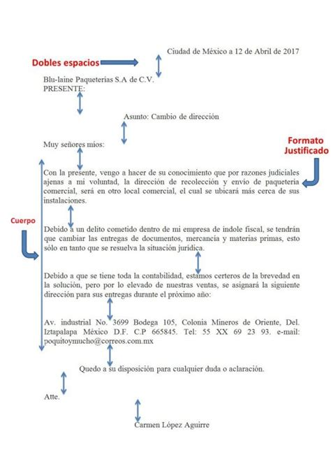 Carta De Empleo Estilo Bloque ejemplo de carta estilo bloque
