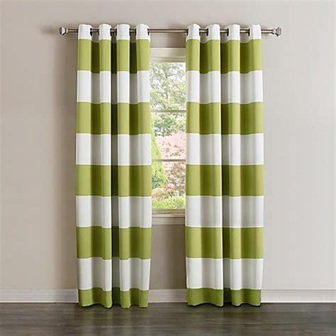 Rugby Stripe Curtains Decorinnovation Rugby Stripe Grommet Top Room Darkening Window Curtain Panel Pair Bed Bath