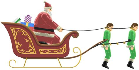happy wheels full version santa santa claus on his sleigh cliparts co