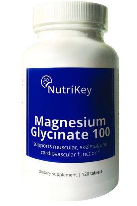 Magnesium Glycinate As A Detox by Magnesium Glycinate 100 120 Tabs Nutrikey