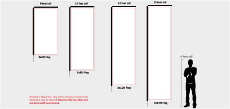 Rectangle Banner Flag Templates For High Quality Custom Flags Feather Flag Design Template