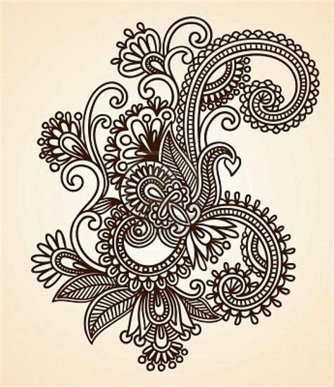 henna tattoo printer 11189142 hand drawn abstract henna mendie flowers doodle